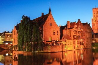 Fine art landscape photograph - Canals of Bruges